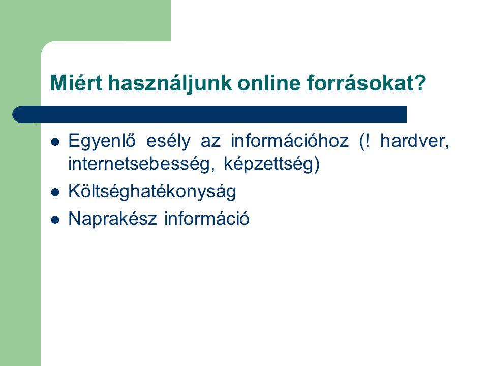 Elektronikus Periodika Archívum (EPA) Elérhetősége: http://epa.oszk.hu/ Célja: magyar vonatkozású elektronikus időszaki kiadványok könyvtári igényű nyilvántartása, illetve egyes folyóiratok archiválása Állománya: több mint 2900 kiadvány