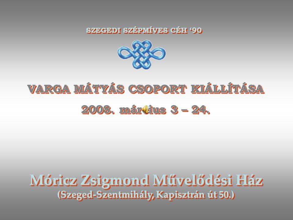 VARGA MÁTYÁS CSOPORT KIÁLLÍTÁSA 2008.március 3 – 24.