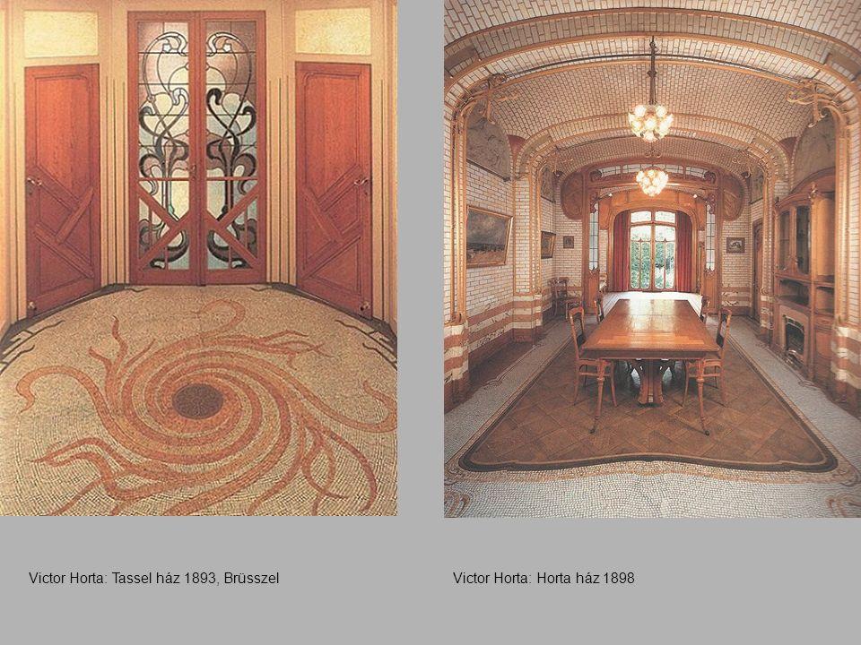 Victor Horta: Tassel ház 1893, BrüsszelVictor Horta: Horta ház 1898