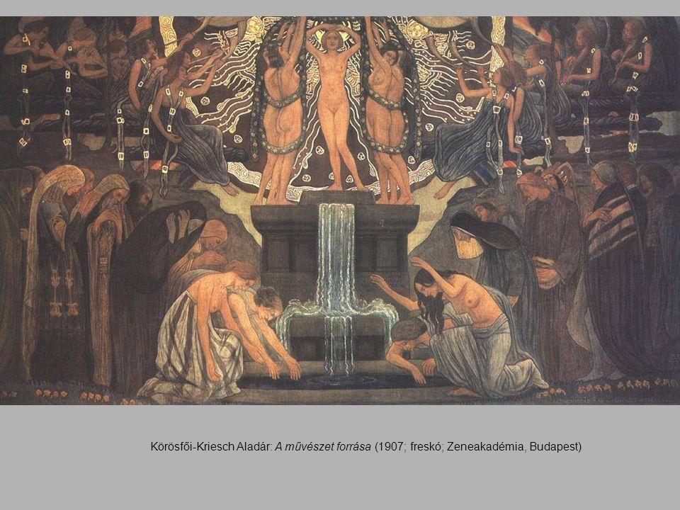 Körösfői-Kriesch Aladár: A művészet forrása (1907; freskó; Zeneakadémia, Budapest)