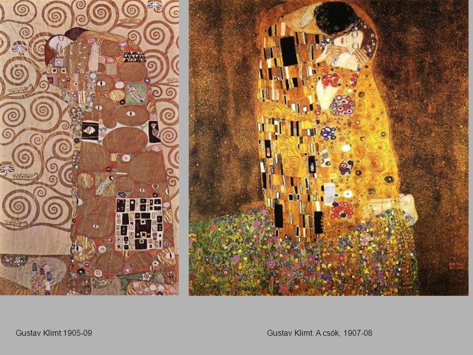 Gustav Klimt: A csók, 1907-08Gustav Klimt:1905-09