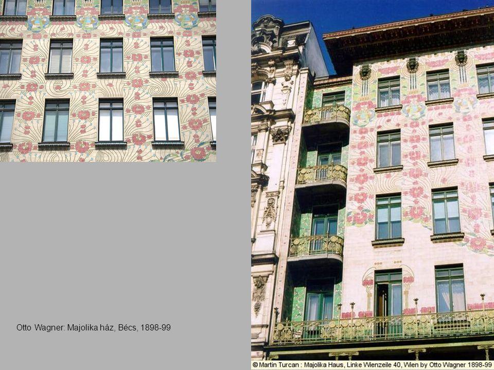 Otto Wagner: Majolika ház, Bécs, 1898-99