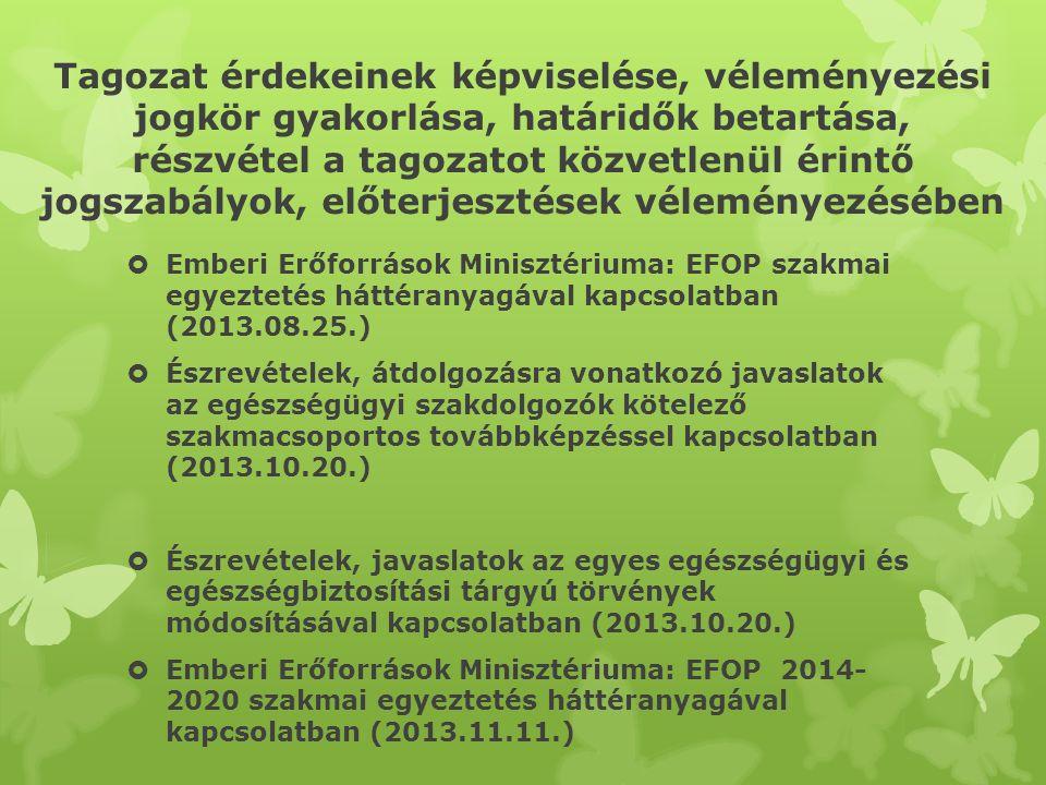 Tagozati képviselet országos és megyei rendezvényeken I.