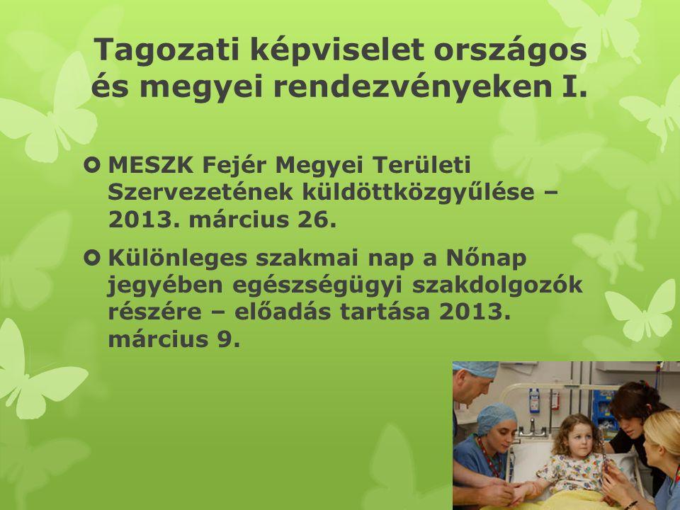 Tagozati képviselet országos és megyei rendezvényeken II.