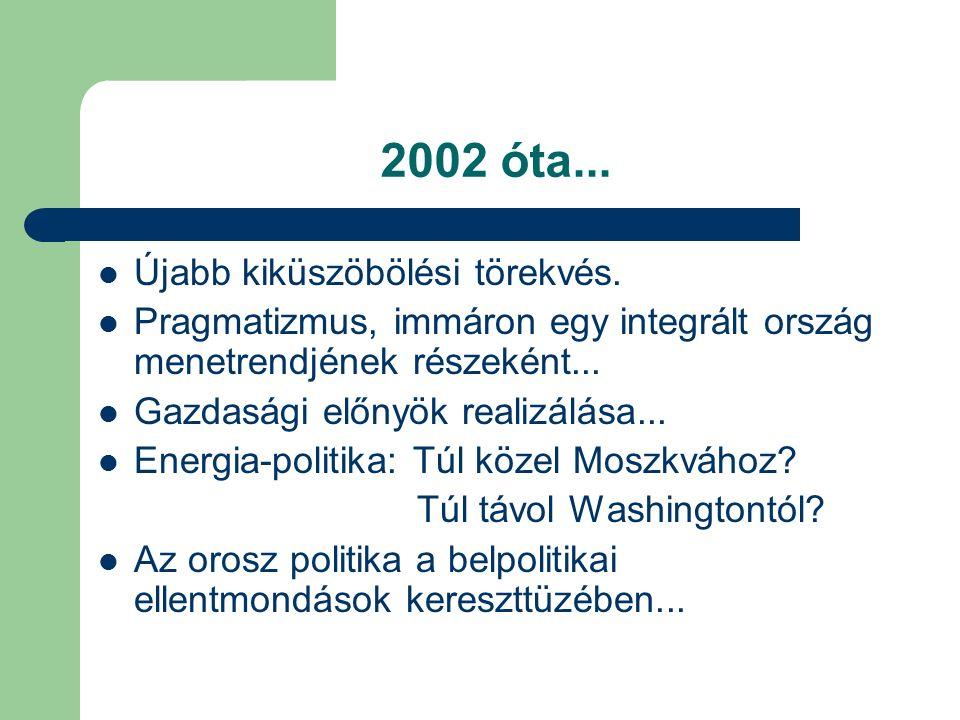 2002 óta... Újabb kiküszöbölési törekvés.