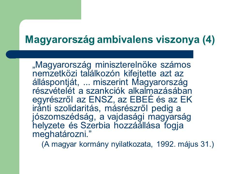 """Magyarország ambivalens viszonya (4) """"Magyarország miniszterelnöke számos nemzetközi találkozón kifejtette azt az álláspontját,..."""