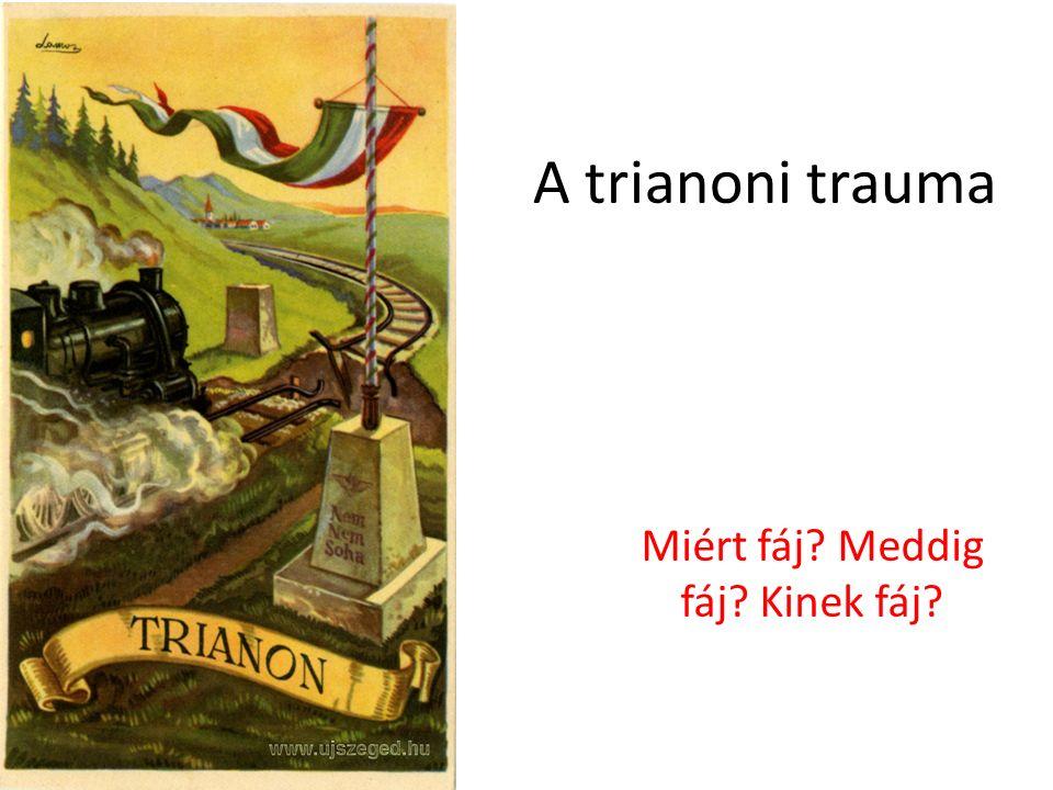 A trianoni trauma Miért fáj Meddig fáj Kinek fáj