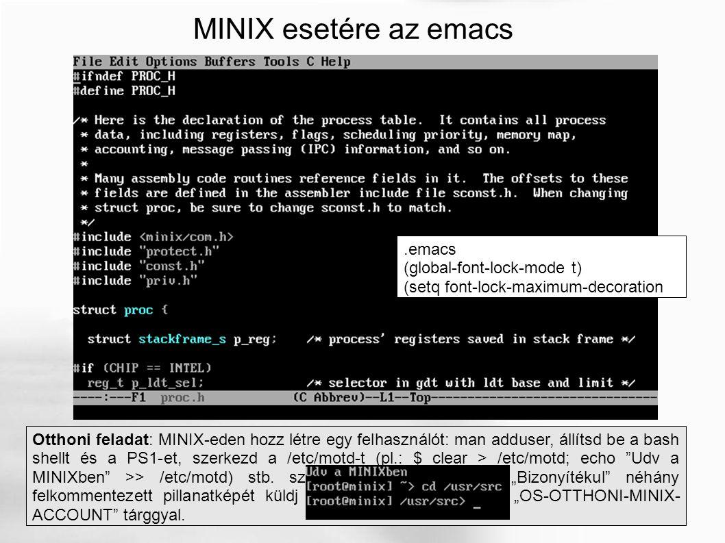 MINIX kernelfordítás i