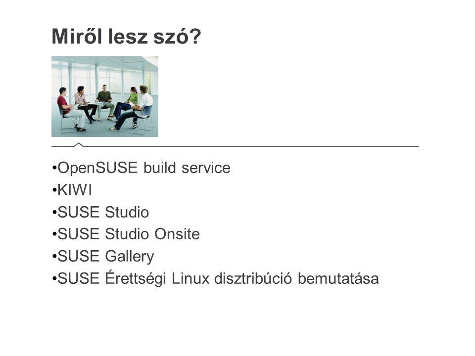 SUSE Studio és SUSE érettségi Linux – Demo Bemutató