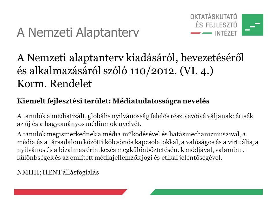 A Nemzeti Alaptanterv A Nemzeti alaptanterv kiadásáról, bevezetéséről és alkalmazásáról szóló 110/2012.
