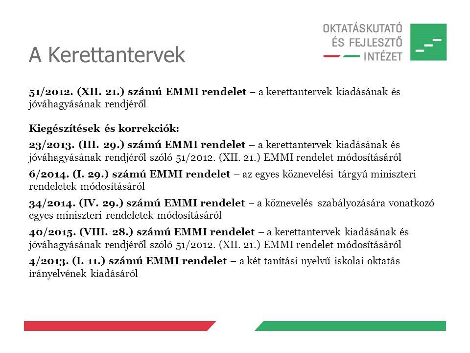 A Kerettantervek 51/2012. (XII.