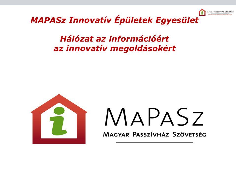 MAPASz Innovatív Épületek Egyesület Hálózat az információért az innovatív megoldásokért