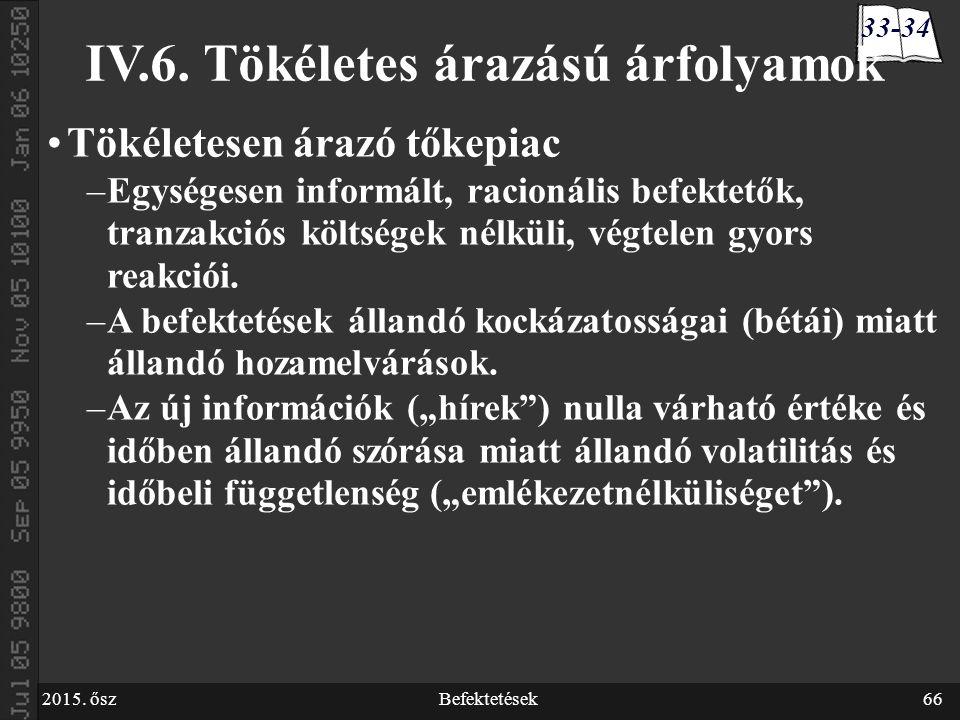 2015. őszBefektetések66 IV.6.