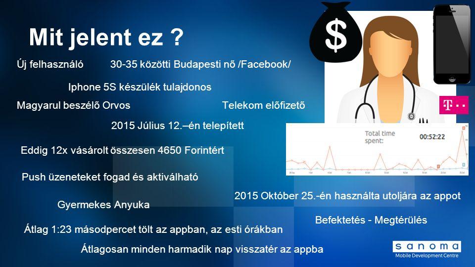 Mit jelent ez ? 30-35 közötti Budapesti nő /Facebook/ Magyarul beszélő Orvos Új felhasználó Iphone 5S készülék tulajdonos Telekom előfizető Gyermekes