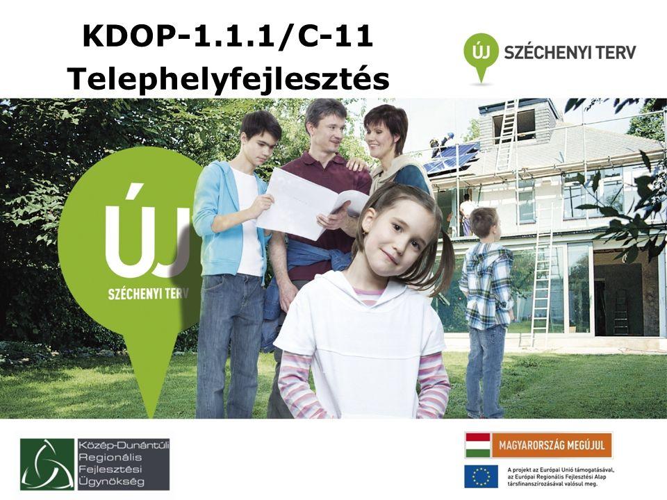 KDOP-1.1.1/C-11 Telephelyfejlesztés
