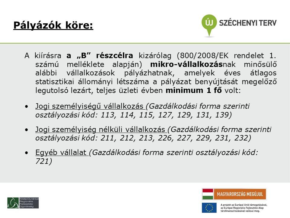 """A kiírásra a """"B részcélra kizárólag (800/2008/EK rendelet 1."""