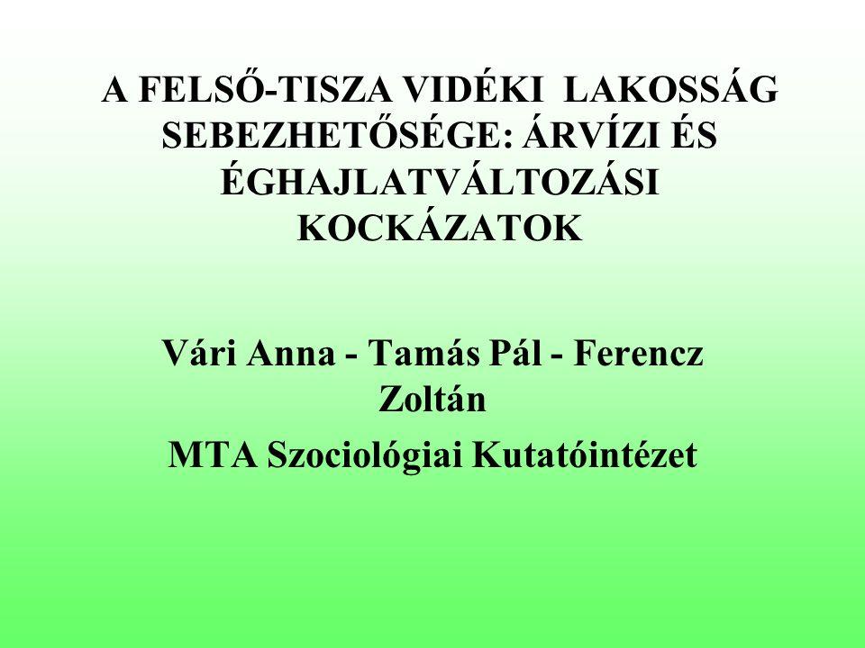 SZOCIOLÓGIAI VIZSGÁLATOK A TISZA VIDÉKEN Árvízi sebezhetőséggel kapcsolatos lakossági kutatás – 2006.