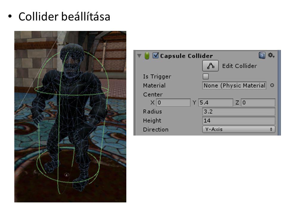 Collider beállítása