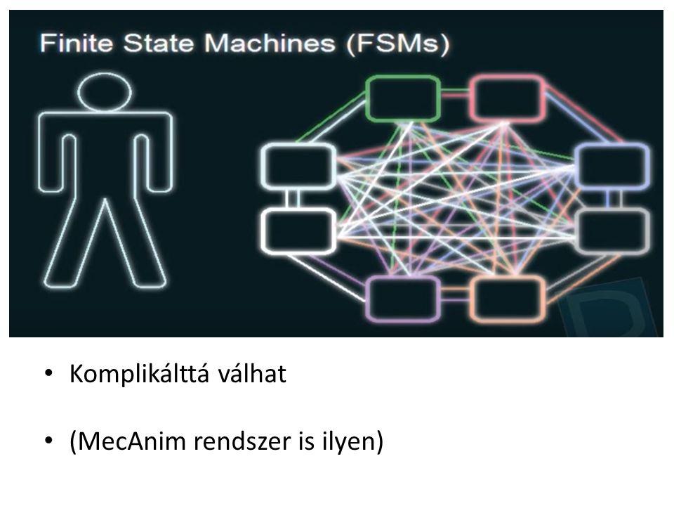 Komplikálttá válhat (MecAnim rendszer is ilyen)