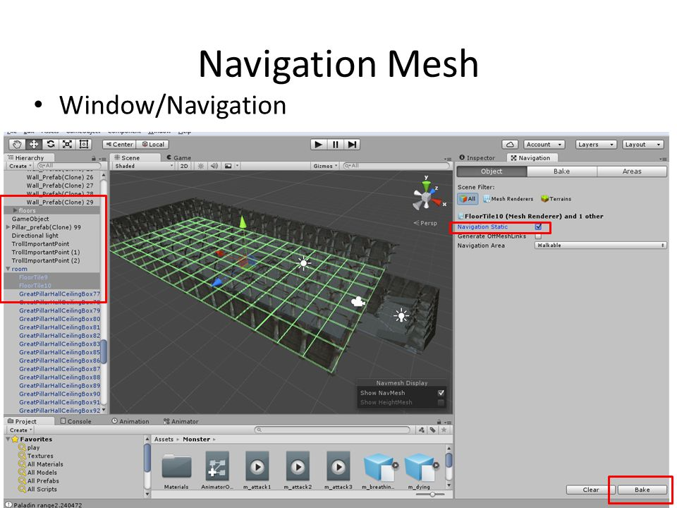 Navigation Mesh Window/Navigation