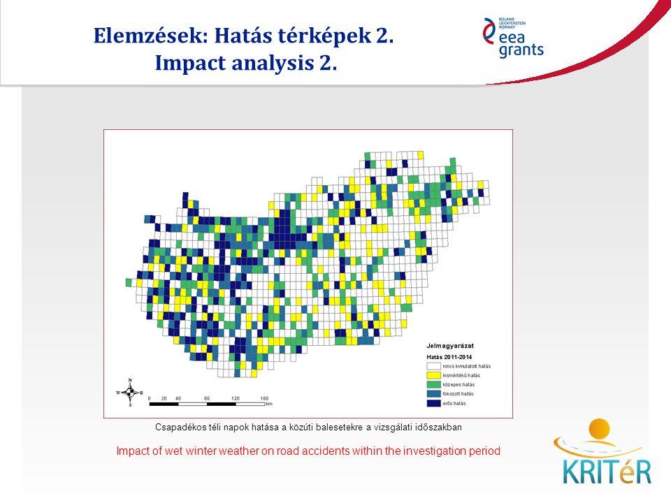 Elemzések: Hatás térképek 2. Impact analysis 2.