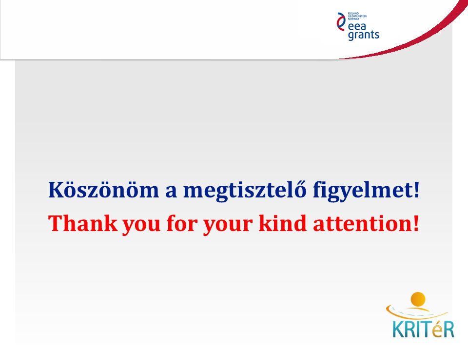 Köszönöm a megtisztelő figyelmet! Thank you for your kind attention!
