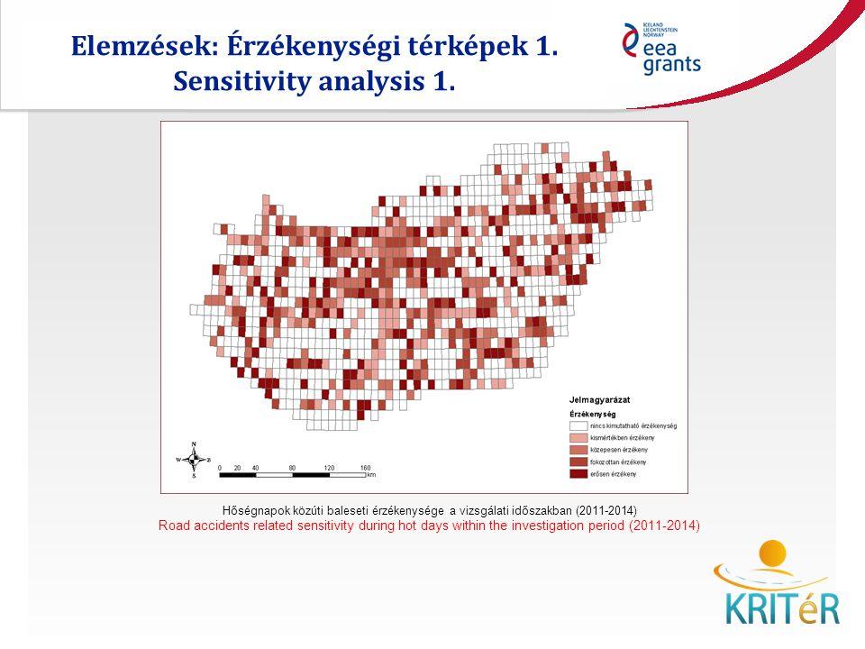 Elemzések: Érzékenységi térképek 1. Sensitivity analysis 1.