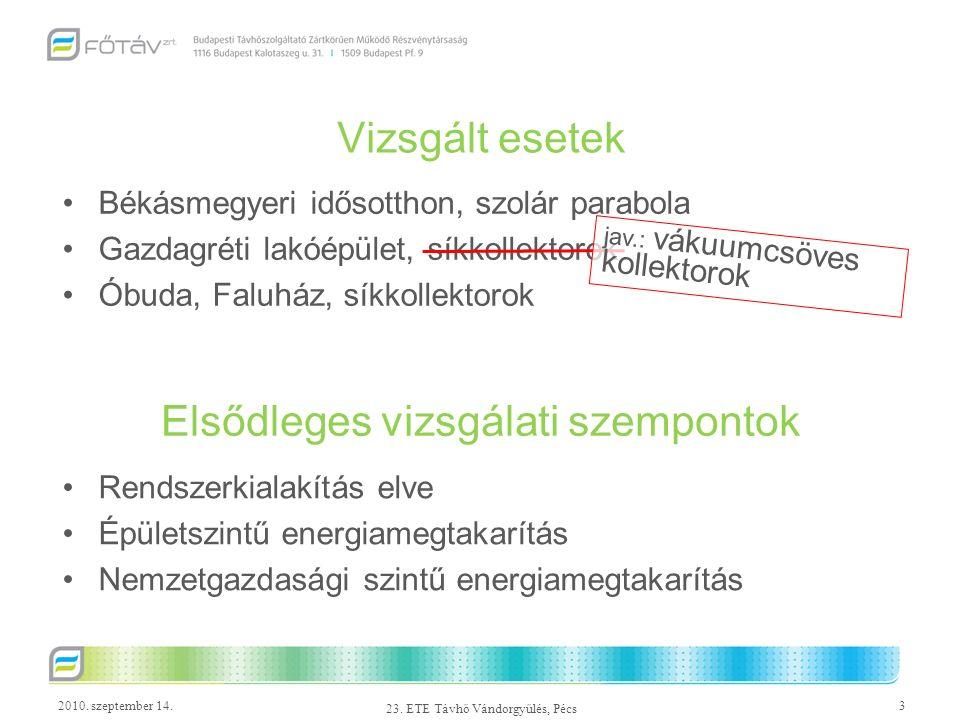 2010.szeptember 14.4 23. ETE Távhő Vándorgyűlés, Pécs Módszertani problémák 1.