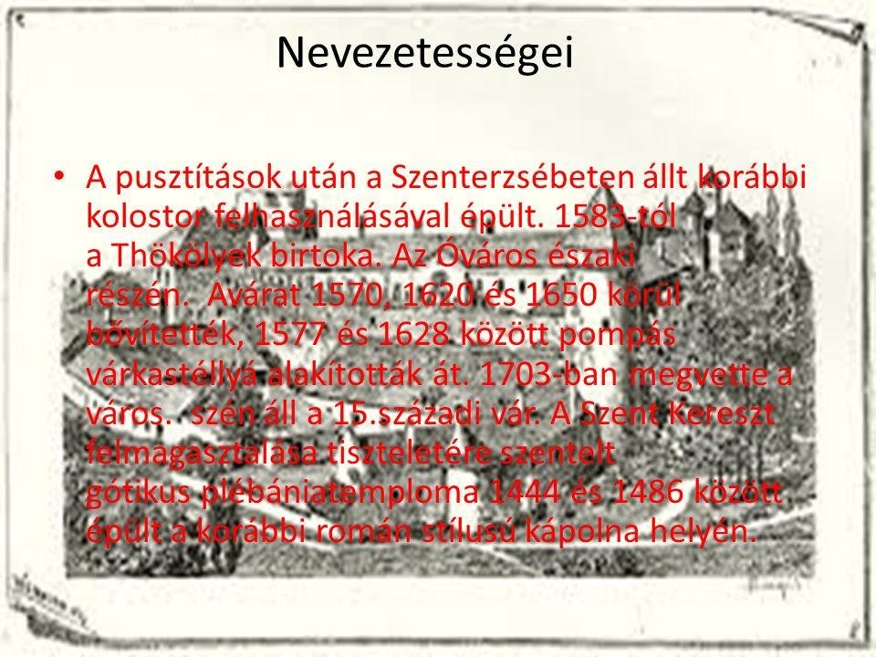 Nevezetességei A pusztítások után a Szenterzsébeten állt korábbi kolostor felhasználásával épült.