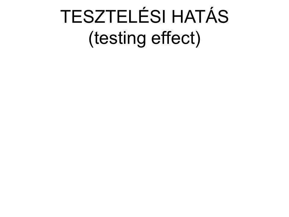 TESZTELÉSI HATÁS (testing effect)