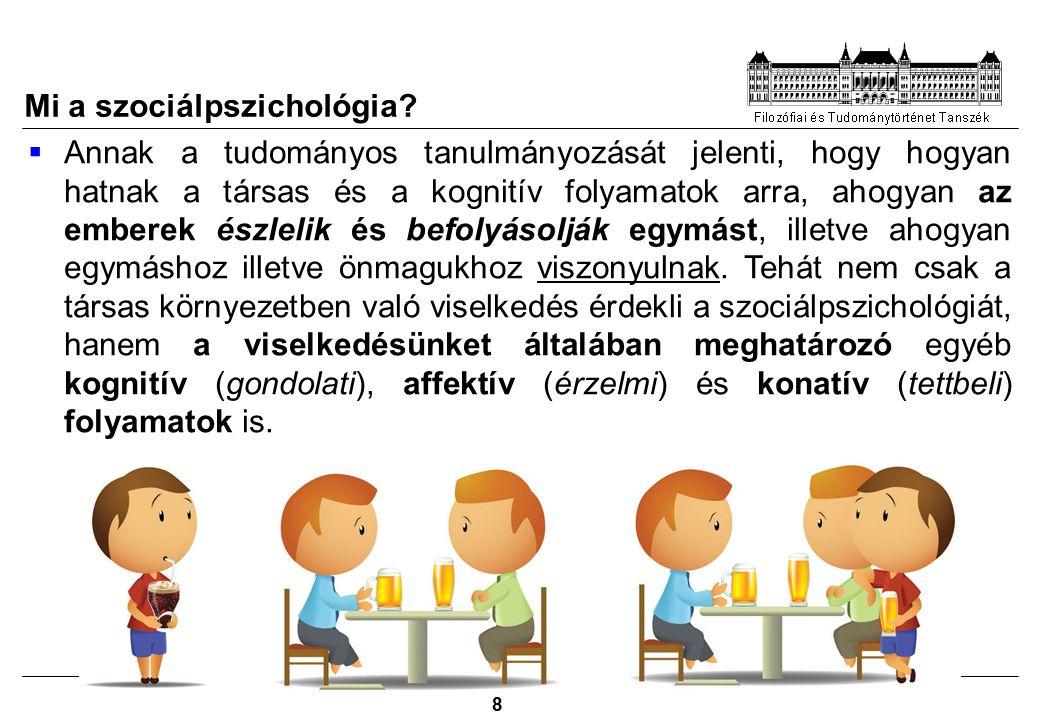 Filozófia 8 Mi a szociálpszichológia.
