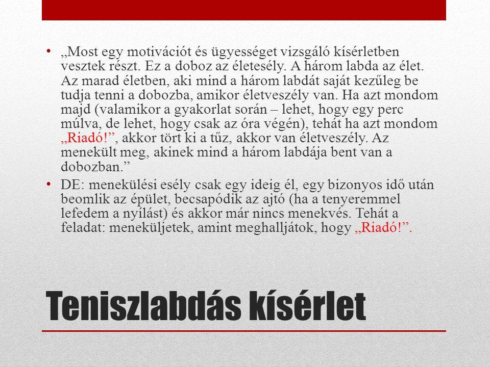 A pánik (ld.részletesen Dúll & Varga (1993).