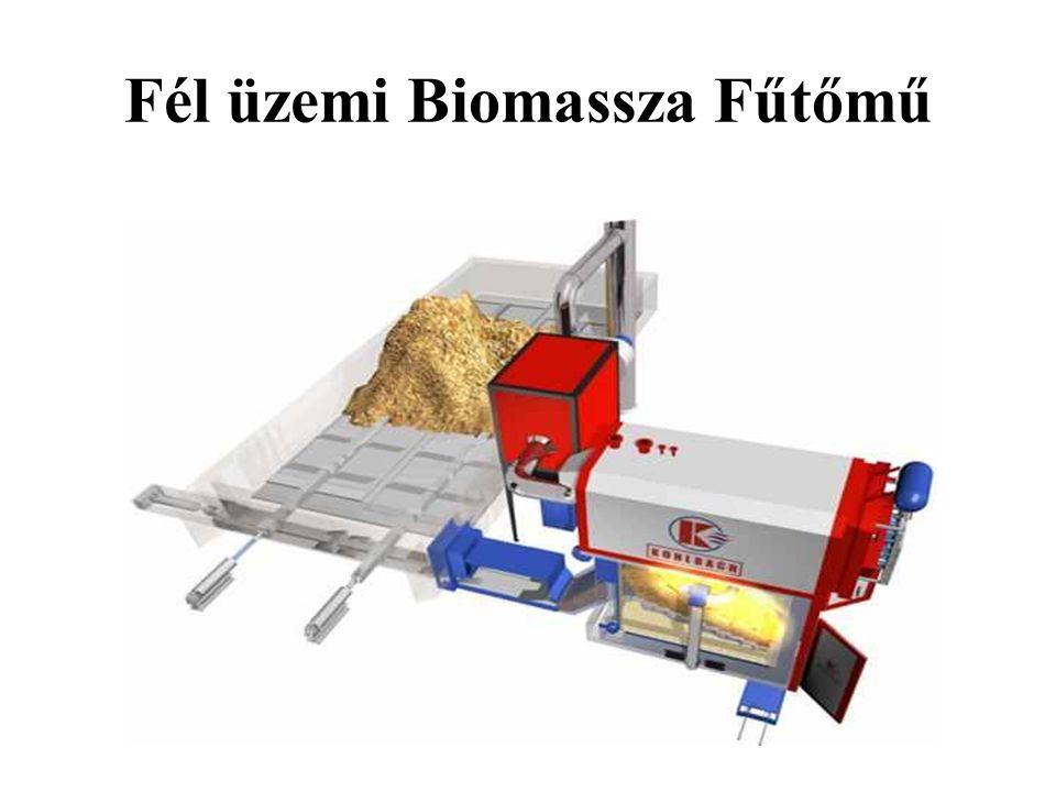 Fél üzemi Biomassza Fűtőmű