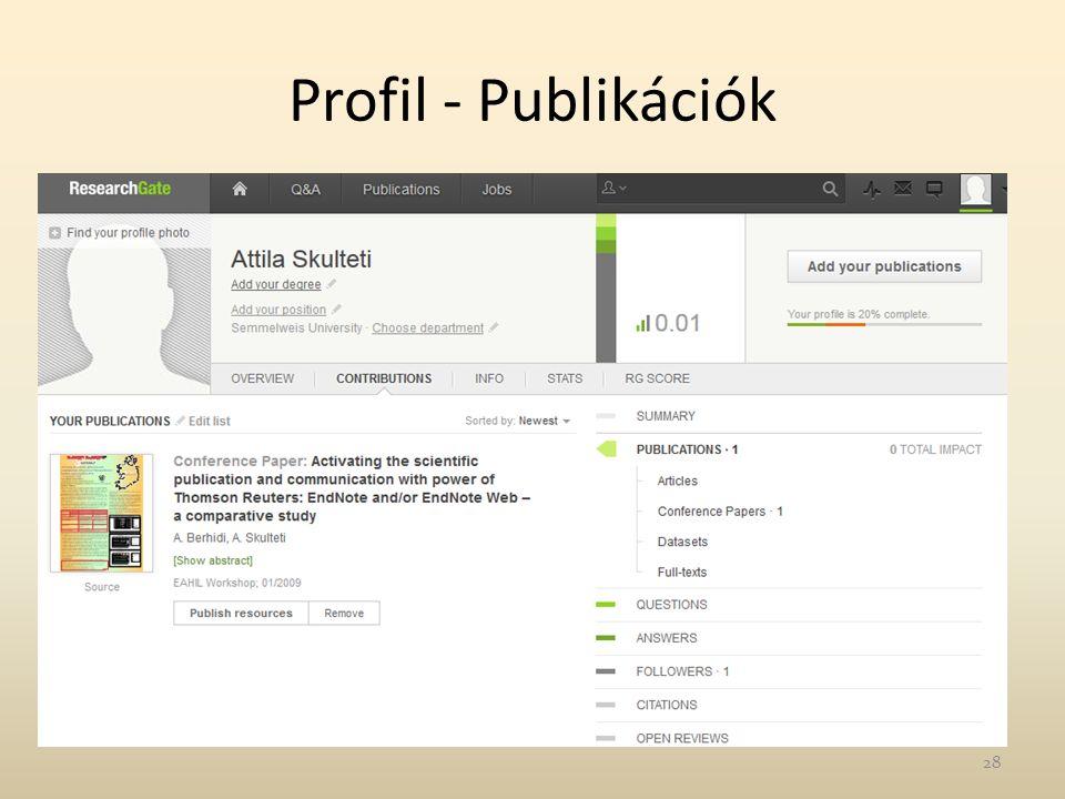 Profil - Publikációk 28