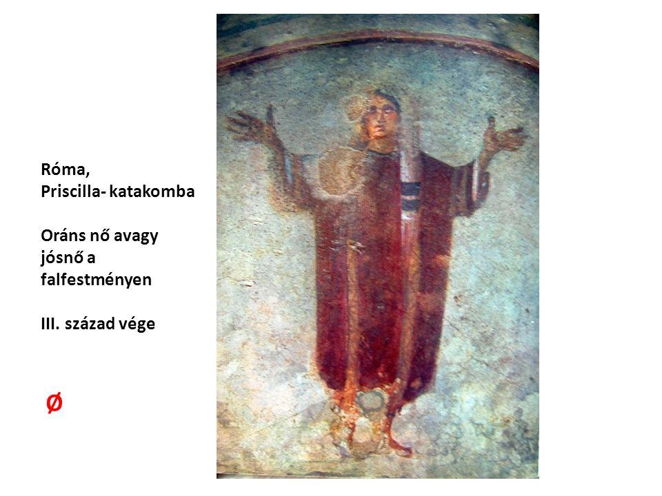 Róma, Priscilla- katakomba Oráns nő avagy jósnő a falfestményen III. század vége Ø