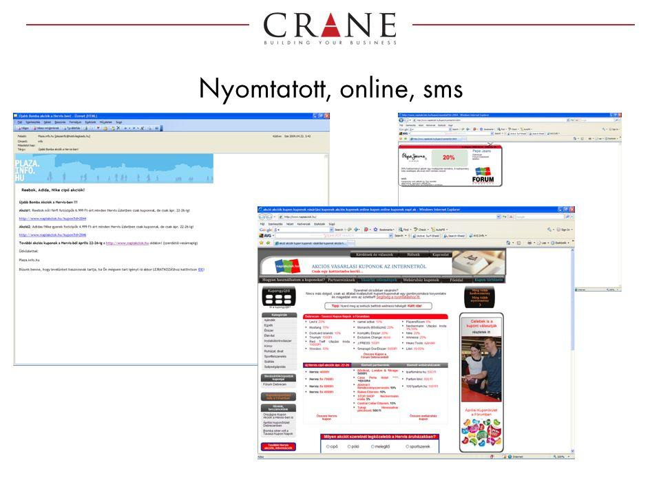 Nyomtatott, online, sms