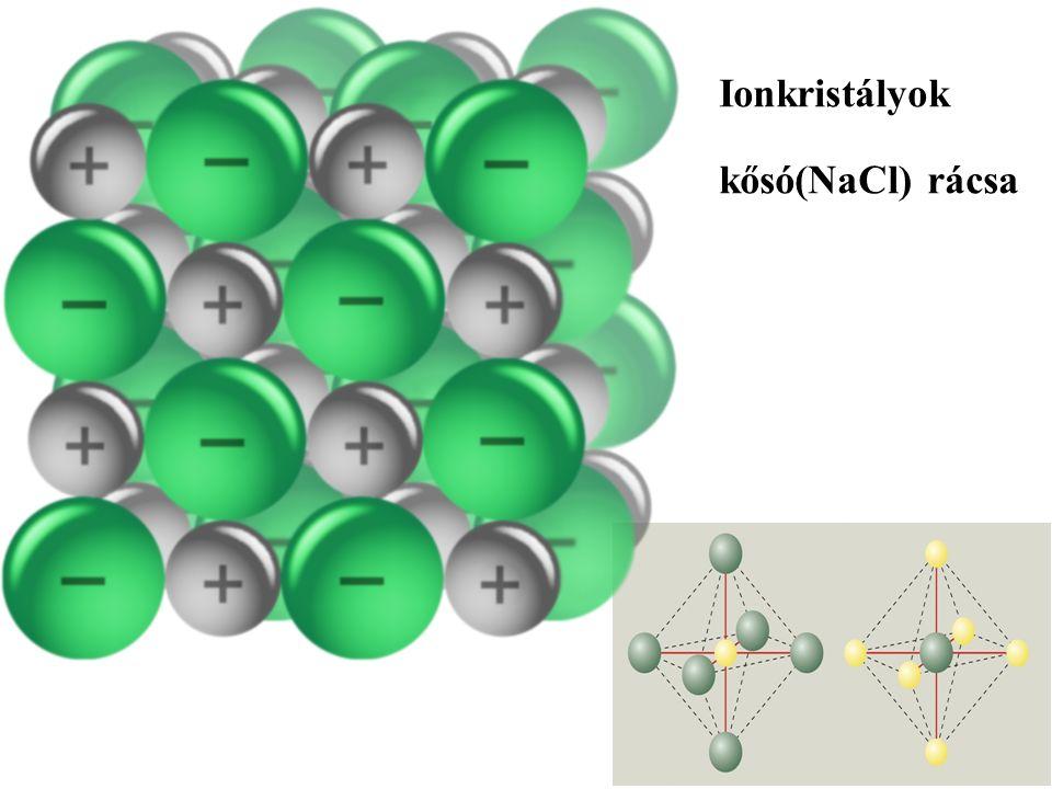 Ionkristályok kősó(NaCl) rácsa