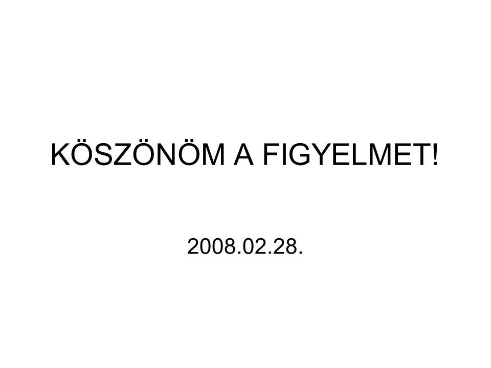 KÖSZÖNÖM A FIGYELMET! 2008.02.28.