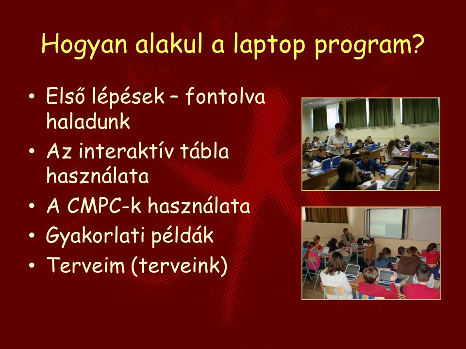Hogyan alakul a laptop program.