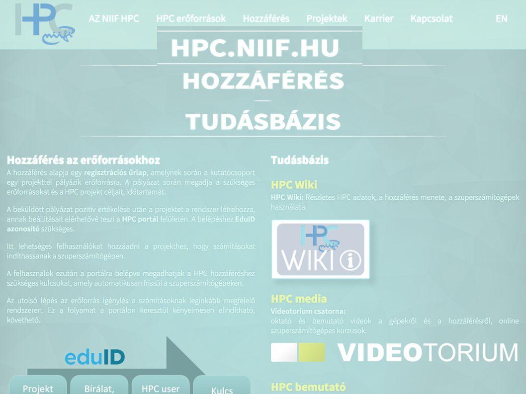 Nemzeti Információs Infrastruktúra Fejlesztési Intézet NIIF HPC HPC.NIIF.HU