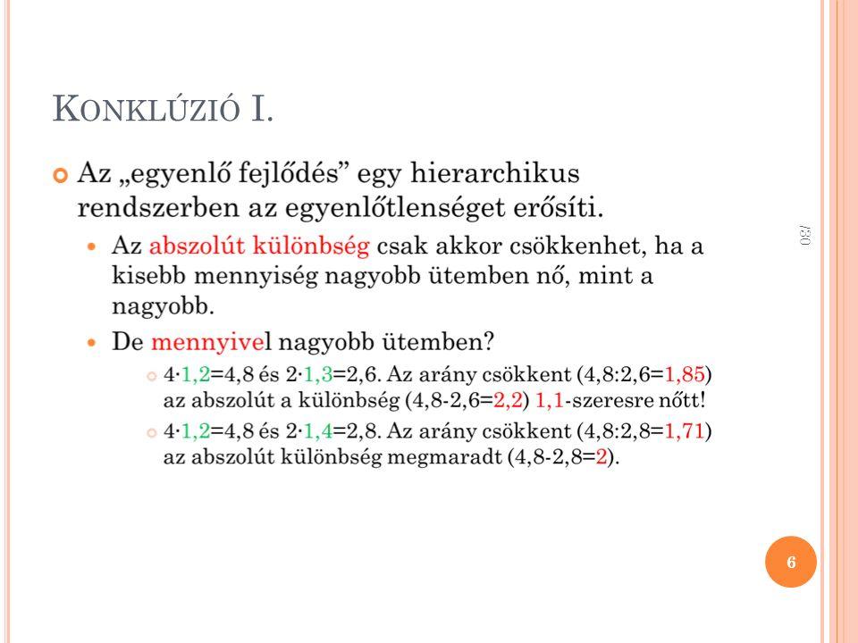K ONKLÚZIÓ I. 6 /30