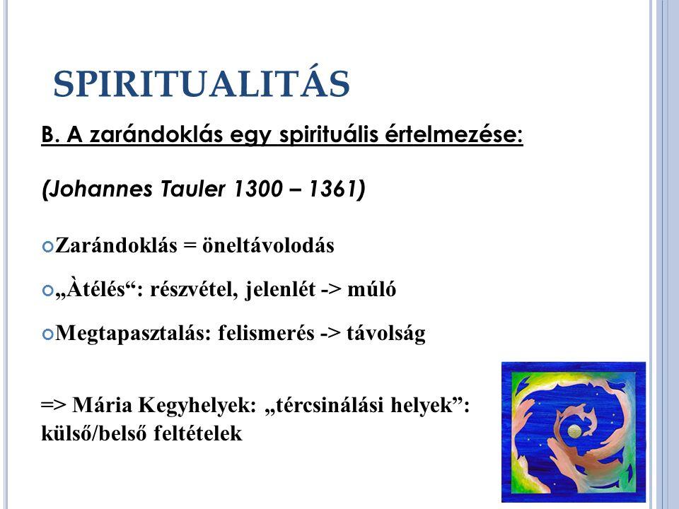 SPIRITUALITÁS B.
