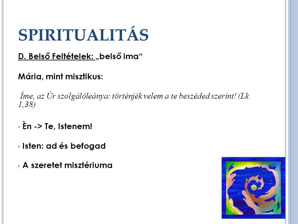 SPIRITUALITÁS D.