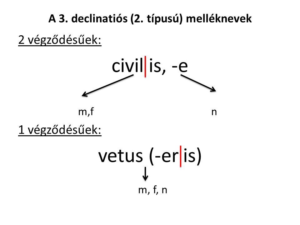 A 3. declinatiós (2.