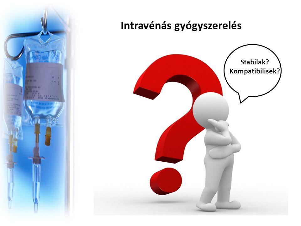 Intravénás gyógyszerelés Stabilak Kompatibilisek
