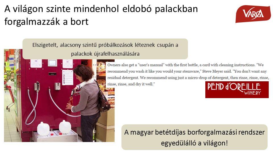 A magyar betétdíjas borforgalmazási rendszer egyedülálló a világon.