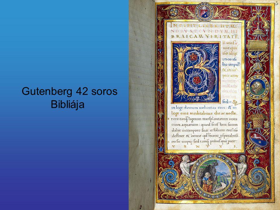 Gutenberg 42 soros Bibliája