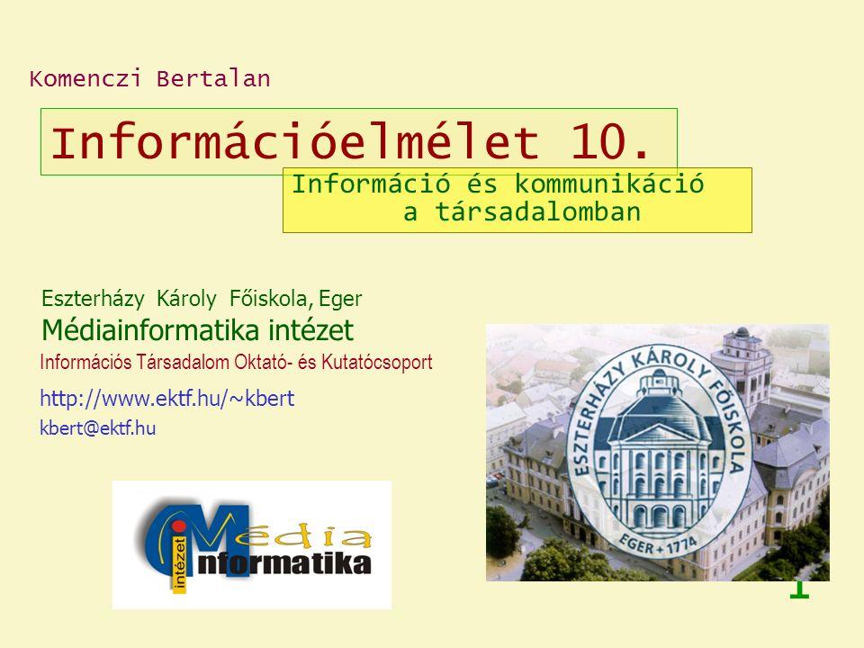 Információelmélet 10.