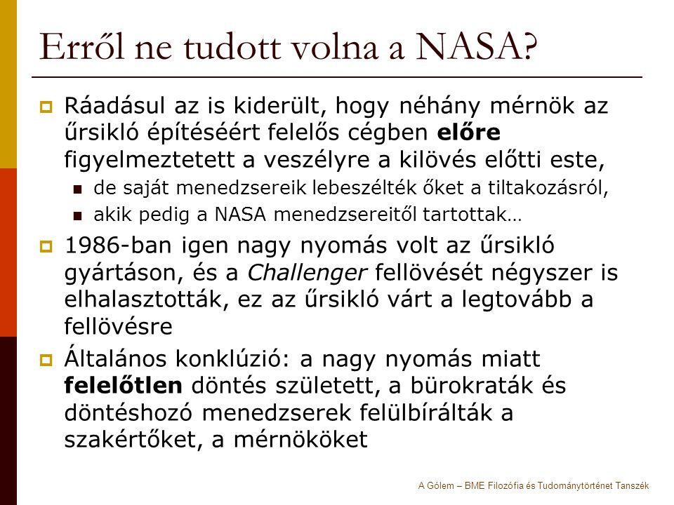 Erről ne tudott volna a NASA.