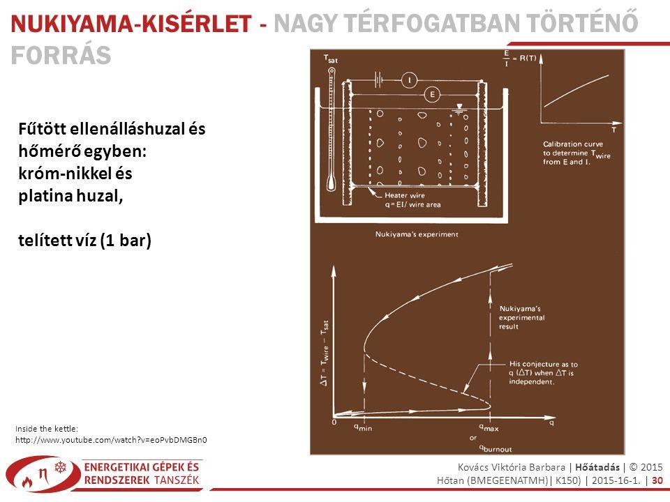 Kovács Viktória Barbara | Hőátadás | © 2015 Hőtan (BMEGEENATMH)| K150) | 2015-16-1. | 30 Fűtött ellenálláshuzal és hőmérő egyben: króm-nikkel és plati